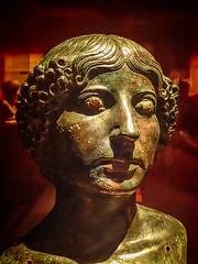 Bronze portrait bust of a Roman woman House of the Citharist Pompeii 1st century BCE (mharrsch) Tags: portrait bust bronze woman female roman pompeii houseofthecitharist ancient sculpture 1stcenturybce omsi portland oregon mharrsch