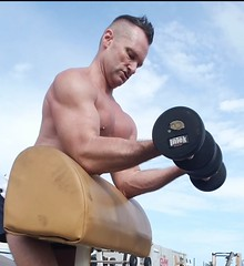 preachers (ddman_70) Tags: shirtless gym muscle workout outdoor biceps
