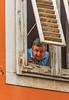 Man in a Window (fotofrysk) Tags: man window building shutters wood dilapidated istarskastreet easterneuropetrip croatia pula istria dalmatiancoast afsnikkor703004556g nikond7100 201710037952