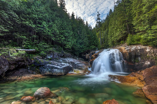 Lower Falls in Golden Ears Provincial Park, BC