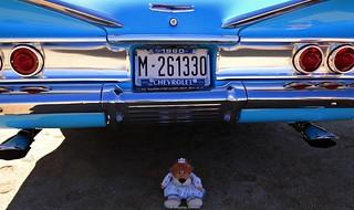Chevrolet azul de Leoncia