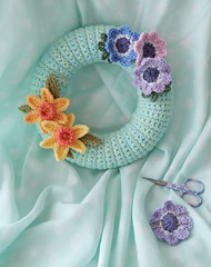 Still Life (zinnia2012) Tags: wreath crochet homemade pastels decoration spring