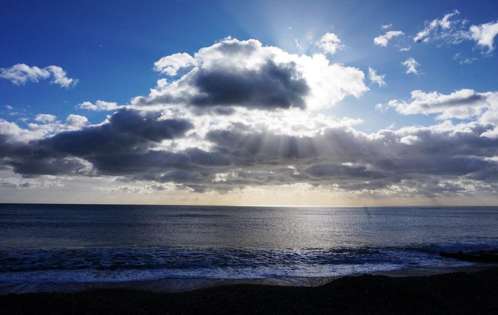 Clouds over Felpham Beach 4