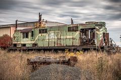Green Hulk (dscharen) Tags: cnw chicagonorthwestern escanaba michigan trains lakesuperiorishpemig lsi alco rsd12 basicmarine abandoned
