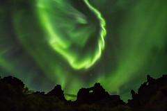 Shock Wave: Aurora Above Iceland Lava Field (Randy Hoffmann) Tags: iceland northernlights aurora dimmuborgir borealis randyhoffmann nightnightscapenightsky