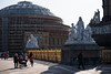 Royal Albert Hall (gallowaydavid) Tags: royalalberthall kensington gardens london sunlight golden rails statue