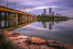 Morning Bridge (S♡C) Tags: bridge river morning clouds reflections parramattariver le nd10stop