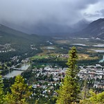 Views of the Bow River, Banff and the Bow Valley Beyond from the Top of Tunnel Mountain thumbnail