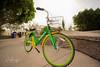 Limebike with flare (wesleyramsey) Tags: bike bicycle az arizona sun flare morning wide angle transportation wheels laowa laowa15mmf2 ddreamer sony a7r
