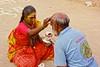 Blessing (Rajavelu1) Tags: blessing sadhvi street streetphotography candidstreetphotography colourstreetphotography people relegation hindu art creative india dslr