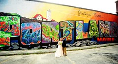 Heather & David (JustineJohnsonPhotography) Tags: maine portlandmaine mainemural portlandmural portlandmainemural graffiti graffitimural downtownportlandmaine mainewedding portlandmainewedding maineweddingphotographer newenglandweddingphotographer destinationweddingphotographer