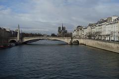 The Seine (Sean Munson) Tags: paris france seine banksoftheseine river water notredamedeparis ourladyofparis bridge church pontdelatournelle