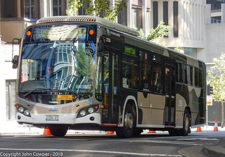 Sydney Buses - Camouflaged Volvo ST 2356 departs for Chowder Bay