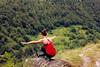 La Vie est un Parcours d'Equilibre (Audrey Haïly) Tags: nature red rouge femme femmes équilibre sport green vert montagne montain woman women