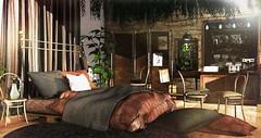 Natural habitat (Alexa Maravilla/Spunknbrains) Tags: concept} kustom9 cheekypea district20 jian collabor88 blush olqinu soy sldecor secondlife secondlifeinteriordesign bedroom chameleon bed brown coffee secondlifedesign indoors