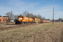 Back to Bennettsville (ajketh) Tags: pdrr pee dee river railroad emd gp16 1800 seaboard freight train shortline ar aberdeen rockfish pape rmill domtar mohawk industries small town country bennettsville sc south carolina csx 1842