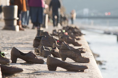 Shoes on the danube (KelJB) Tags: tourism art sculpture sad peace war family love memorial memory holocaust jewish tribute shoes shoesonthedanube europe hungary budapest danube