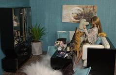 Loft furniture (Niva80) Tags: imogenlennox nuface integritytoys 16scalediorama diorama dolls bedaringimogen loftfurniture highlifechaise centralfocuscoffeetable cocktailconnectionliquorcabinet