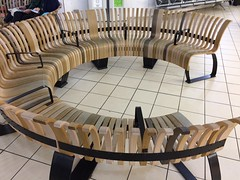 Committee Meeting Seating (unclebobjim) Tags: luton airport committee meeting seating circular bent wood glued laminated shaped