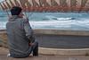 The Audience (tatzlum.photo) Tags: 50mm cigarette lonely audience eretzyisroel break alone netanya smoking israel auditorium coast stage sea