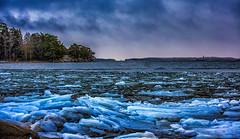 Winter blues (Joni Mansikka) Tags: nature winter outdoor sea shore ice water sky clouds trees landscape archipelago balticsea ruissalo suomi finland blues