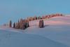 Last light on flanks of Bison Peak (YellowstoneNPS) Tags: jacobwfrank ynp yellowstone yellowstoneforever yellowstonenationalpark alpenglow sunset winter