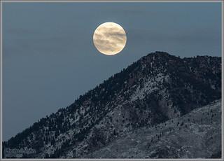 Supermoon Over Salt Lake City