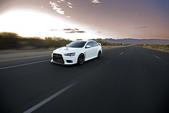 EVO_DOE (M.Restelli) Tags: mitsubishi evo car automotive roller road sky desert freeway motion moving driving cars