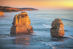 The Golden Light || GREAT OCEAN ROAD || AUSTRALIA (rhyspope) Tags: australia aussie vic victoria great ocean road gibsons steps beach cliffs sandstone coast coastal rhys pope rhyspope 5d mkii waves golden light travel tourist view vista 12 apostles sunrise sunset amazing limestone