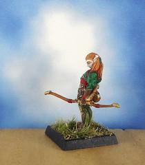 Female-Elf-Ranger-Archer-Reaper-Miniature-02 (Dead Bard Miniatures) Tags: dd dungeons dragons reaper ralpartha grenadier warhammer wotc chainmail pathfinder painted miniature mini