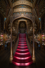 Livraria Lello (Bastian.K) Tags: 12msc book books bookstore library architecture interior harry potter wood woodcraft carpenter laowa 12mm 28 magic shift converter 17mm 40 porto portugal livraria lello staircase stair stairs