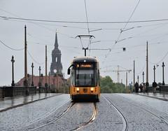 Dresden, Augustusbrücke 26.09.2014 (The STB) Tags: tram tramway strassenbahn strasenbahn streetcar dresden dresde publictransport öpnv citytransport tranvía