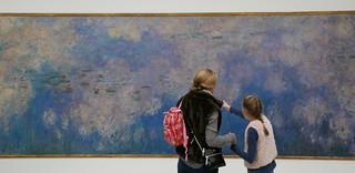 Studying Monet's Waterlilies - Musée de l'Orangerie