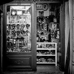 Jewlelry (GavinZ) Tags: northafrica tunis tunisia medina travel bw bnw jewlery shop street blackandwhite square
