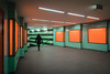 Orange and green (Ulrich Neitzel) Tags: frau green hamburg klosterstern mzuiko1240mm metro olympusem1 orange person station subway ubahn woman underground