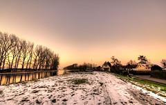 Cold sunset. (Alex-de-Haas) Tags: 1635mm d750 dutch hdr holland nederland nederlands netherlands nikkor nikkor1635mm nikon nikond750 noordholland noordhollandschkanaal thenetherlands westfriesland belichting bomen boom canal cloudless daglicht daylight handheld hemel highdynamicrange kanaal landscape landscapephotography landschap landschapsfotografie licht light lighting lucht onbewolkt skies sky sneeuw snow sundown sunset tree trees unclouded water winter zonsondergang