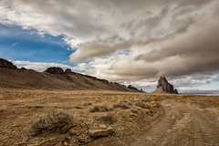On the road to Shiprock (KPortin) Tags: shiprock newmexico desert road basalt volcano landscape