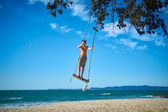 Otama 2018 - On the Beach 36 (C & R Driver-Burgess) Tags: beach family boy girls young man women together sun summer sand surf blue sky sea pohutukawa new zealand aotearoa white gold