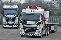 LK17 MDV EXPLORE TRANSPORT (GAZ SELLERS) Tags: white transportation transport flatbed trucking photo photography driver trucks busy local depot livery daf crane diesel lorryspotting lorry truck mercedes vale markham chesterfield haul heavy explore ws