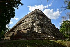 Temple of the Masks, Kohunlich (orientalizing) Tags: archaeologicalsite archaia classic kohunlich mayan mexico monumental northamerica pyramid temple yucatan templeofthemasks