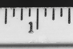 """Ruler: 100mm Macro Lens With 90mm Extension On A Full Frame Camera (melmark44) Tags: """"fullframe"""" lessthananinch macromondays extensiontubes 90mmextensiontubes 90mm ruler macro magnification ef100mmf28macrousm 21magnification inch 116inchmarks"""