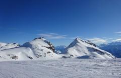 Two (corinne emery) Tags: cransmontana mountain montagne suisse landscape paysage exterieur sky bleu blue valais wallis tourisme nature shoot