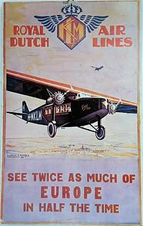 Vintage Dutch tourism poster
