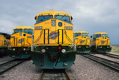 When they were new… (Moffat Road) Tags: chicagonorthwestern cnw ge c449w dash9 8693 newlocomotives safetycab coaltrain bill wyoming powderriverbasin orinline wy