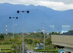 Padang Airport View 20180109_151843 DSCN1288 (CanadaGood) Tags: asia asean seasia indonesia padang pdg sumatra airport mountain terminal building canadagood 2018 thisdecade color colour green blue sign indonesian