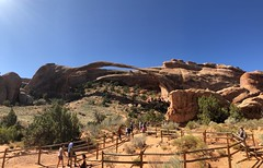 Landscape Arch inside Arches National Park, Utah (Hazboy) Tags: hazboy hazboy1 utah arches national park moab october 2017 parc west western us usa america arch