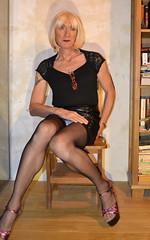 DSC_0026c (magda-liebe) Tags: tatoo highheels mini crossdresser french platform tgirl skirt stockings travesti