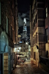 Narrow lanes and tall towers (Мaistora) Tags: shard tower skyscraper tall tallest iconic icon sky skyscape skyline street lane alley lovat narrow old antique historic city squaremile finance money cyber monument towerhill lovatlane walkietalkie