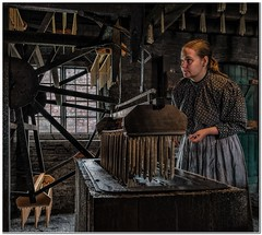 Production by window light (Hugh Stanton) Tags: candle factory vat dip victorian