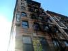 Macdougal St, New York, NY (Clara Ungaretti) Tags: up lookingup blue bluesky architecture archdaily building fireescape manhattan estadosunidos estadosunidosdaamérica unitedstatesofamerica unitedstates us usa newyork newyorkcity novayork greenwichvillage east